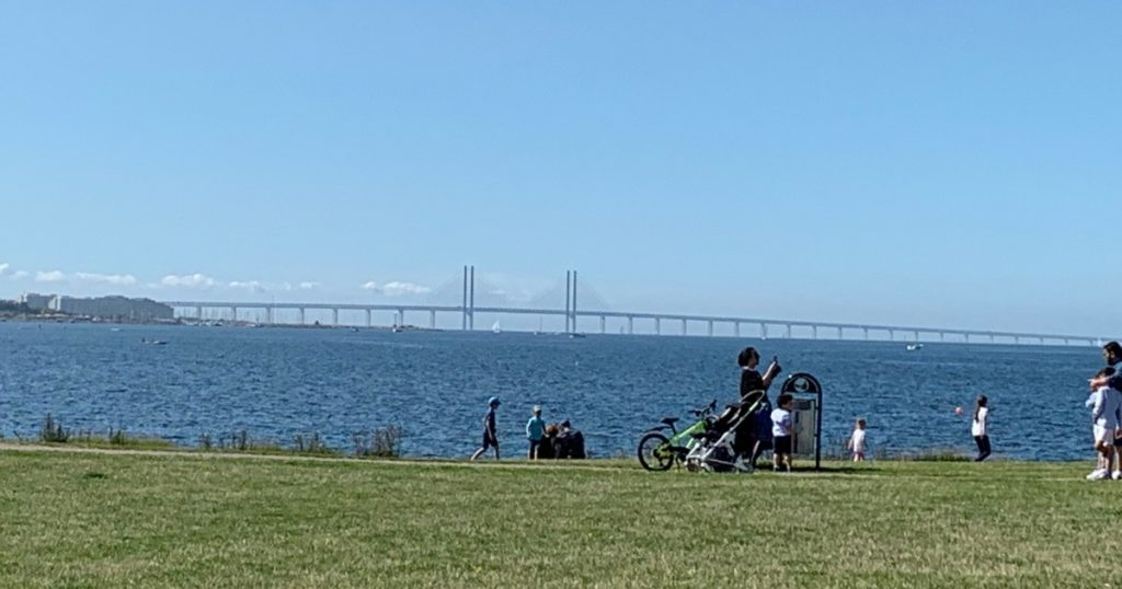 Oresund Bridge from far