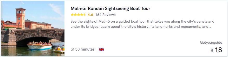 Malmö Boat Tour cost
