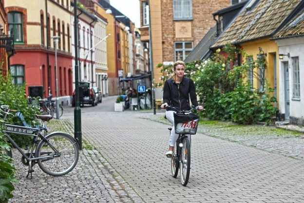 Sweden Woman Biking