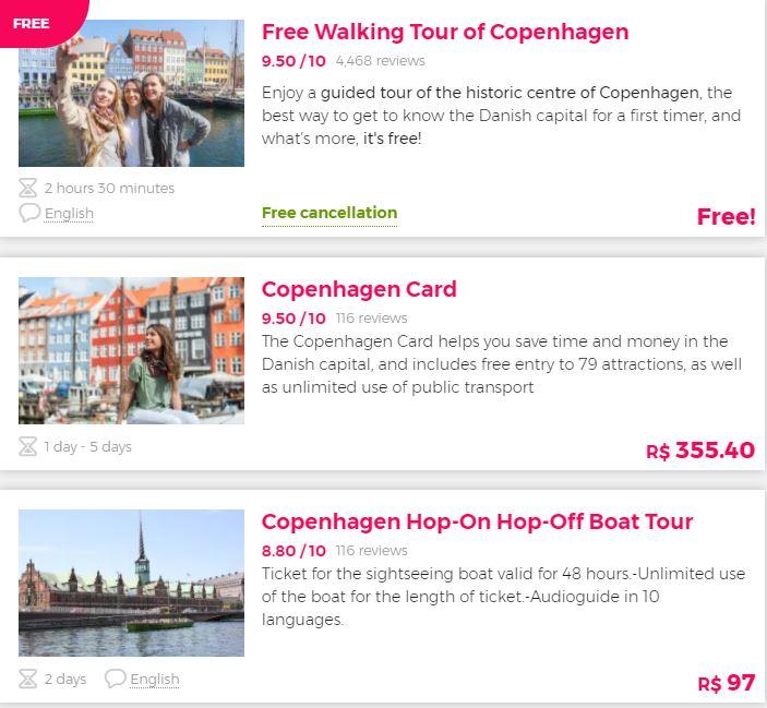 Tours Copenhague