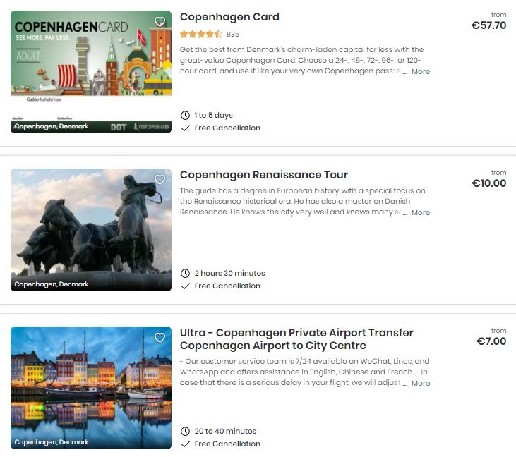 Tours Copenhague
